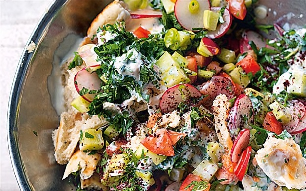 Cookbooks to Travel by The Art of Travel Yotam Ottolenghi Jerusalem Fattoush