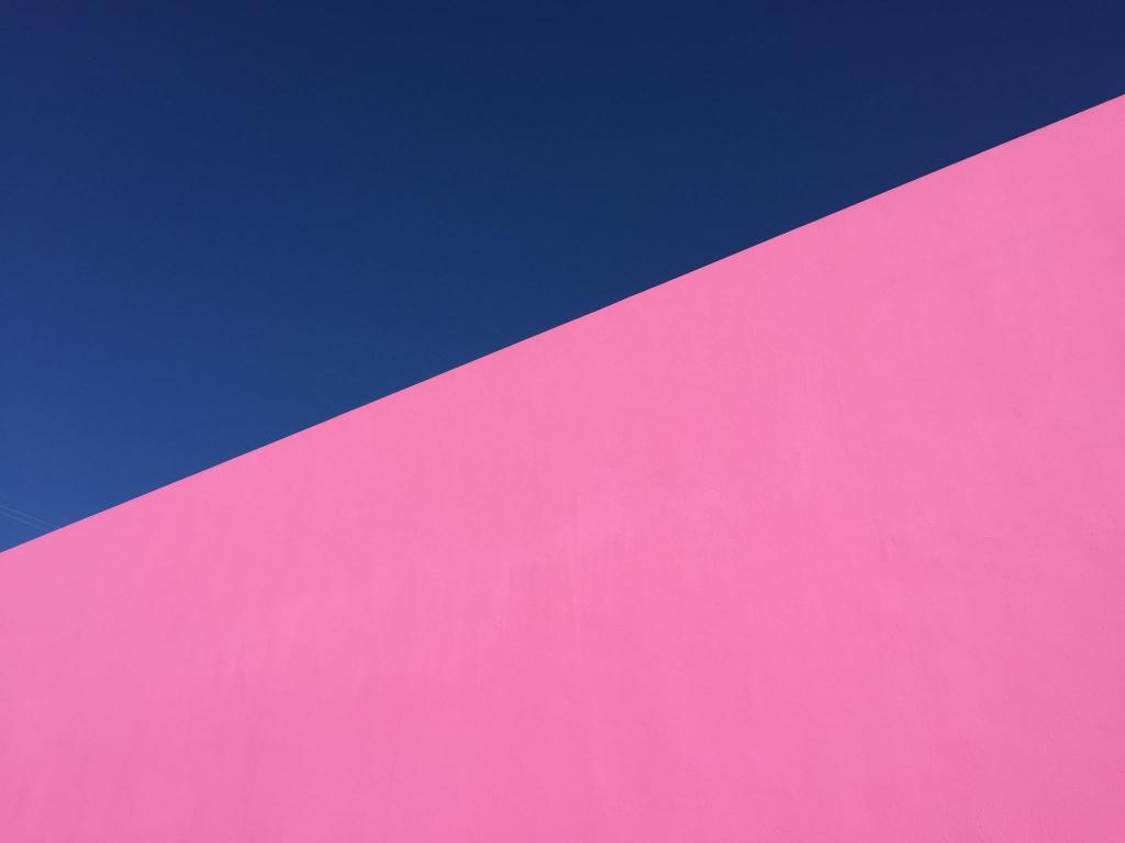 Pink Destinations The Art of Travel Paul Smith Pink Wall blue sky