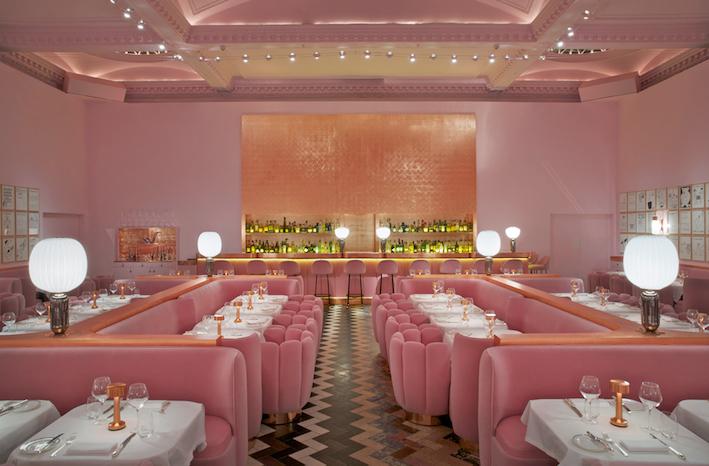 Pink Destinations The Art of Travel Sketch restaurant