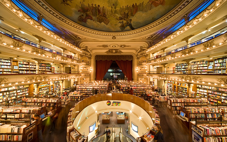 Five bookstores to travel for The Art of Travel Buenos Aires El Ateneo Gran Splendid