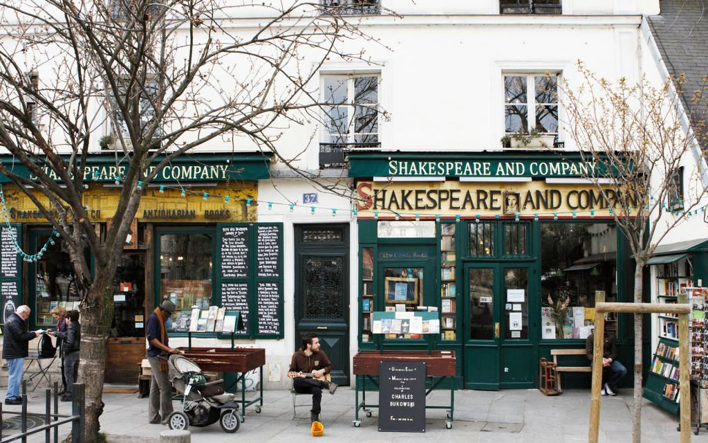 Five bookstores to travel for The Art of Travel Shakespeare and Company Paris