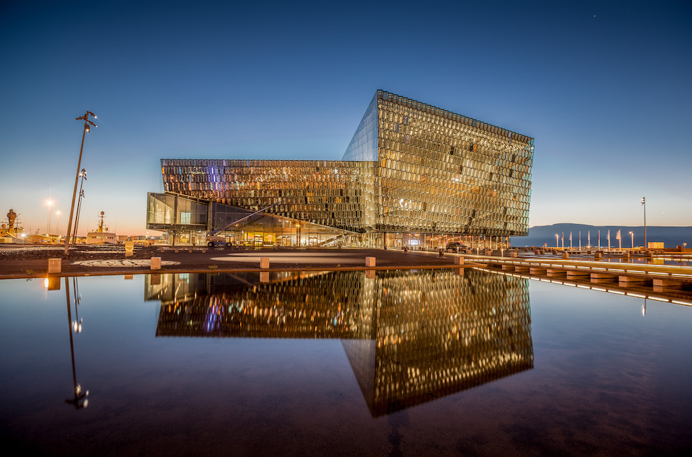 Reykjavik City Guide The Art of Travel Harpa Opera House night