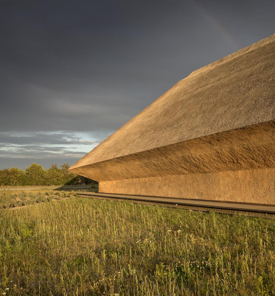 Travel guide to South West Denmark The Art of Travel Vadehavscentret exterior Dorte Mandrup clouds