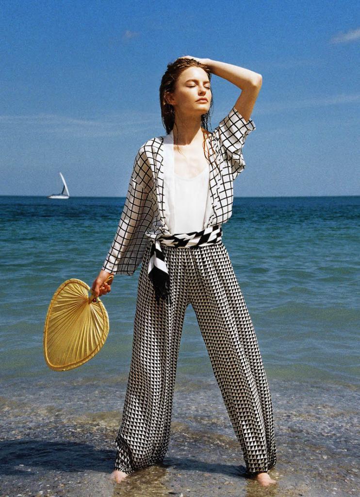 World Traveller Nazanin Rose Matin The Art of Travel kimono pants trousers