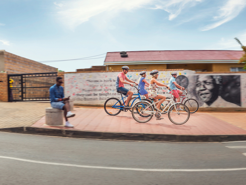 24 hours in Johannesburg The Art of Travel Lebo's Packacker Soweto bicycle tour