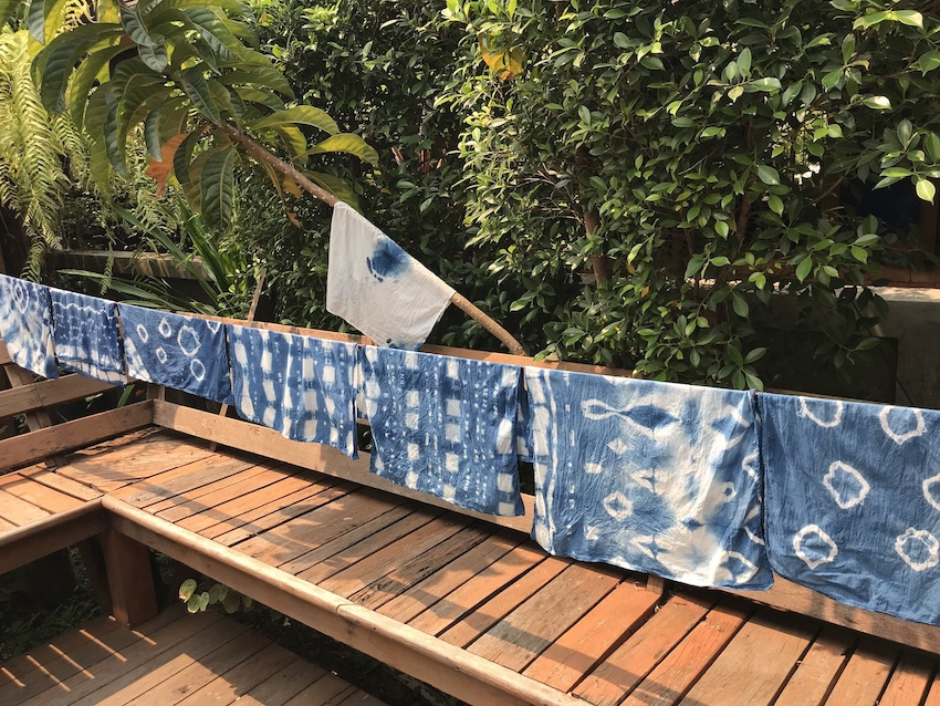 How to spend 24 hours in Chiang Mai The Art of Travel Loang Him Kao indigo workshop scarf
