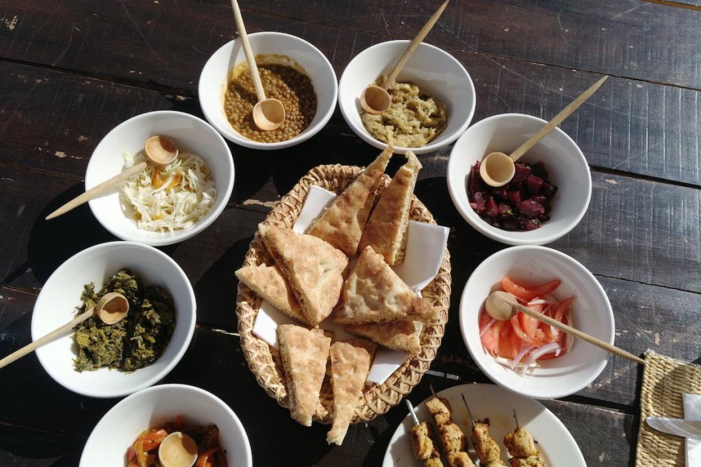 The bedouin camp close to Marrakech in Morocco The Art of Travel lunch food Scarabeo camp
